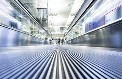 Moving modern escalator way to success business